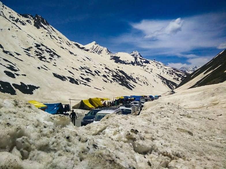 Snowy roads in Kashmir