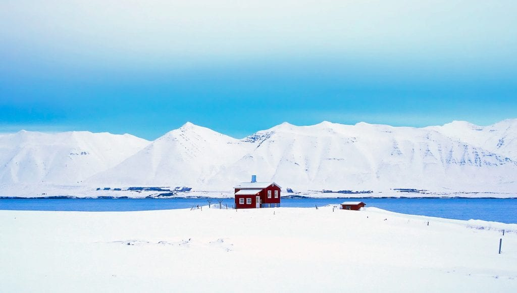 Iceland in snow