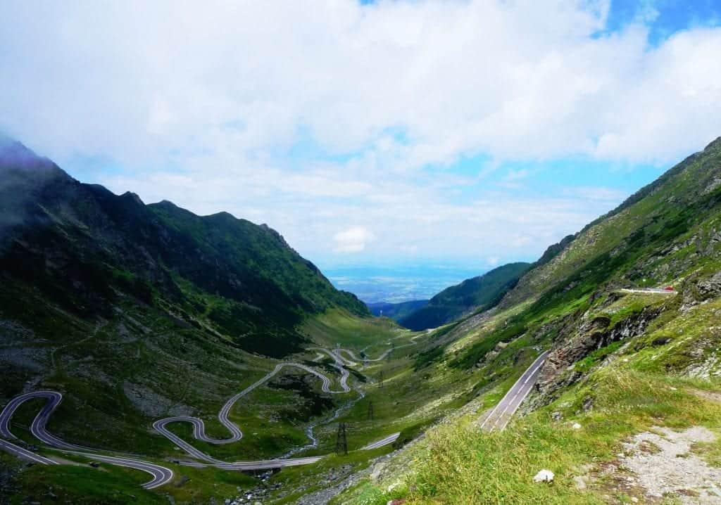 scary road Romania