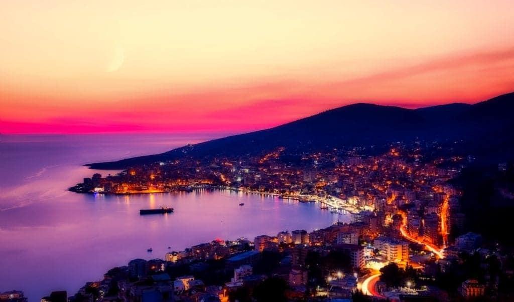 Albania night view Traveling to Albania