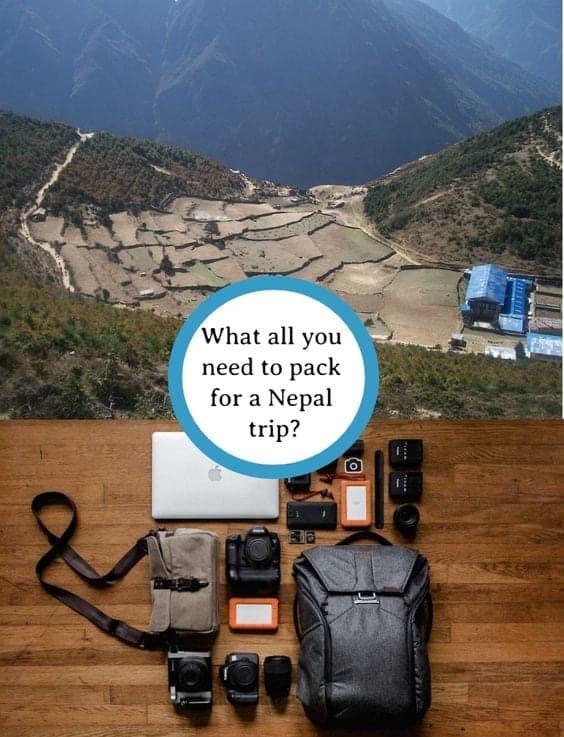 nepal packing list