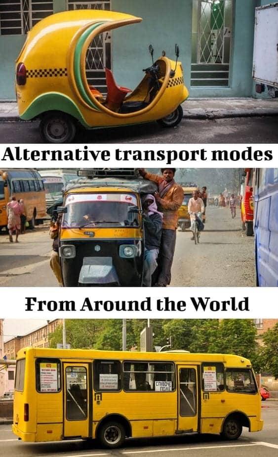 alternative modes of transportation around the world
