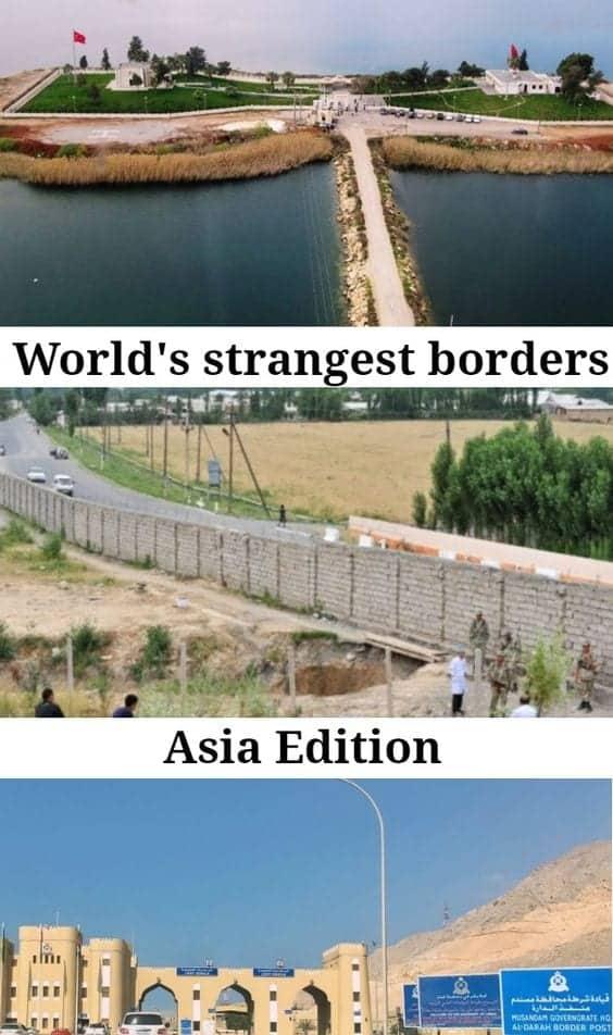 strangest borders asia