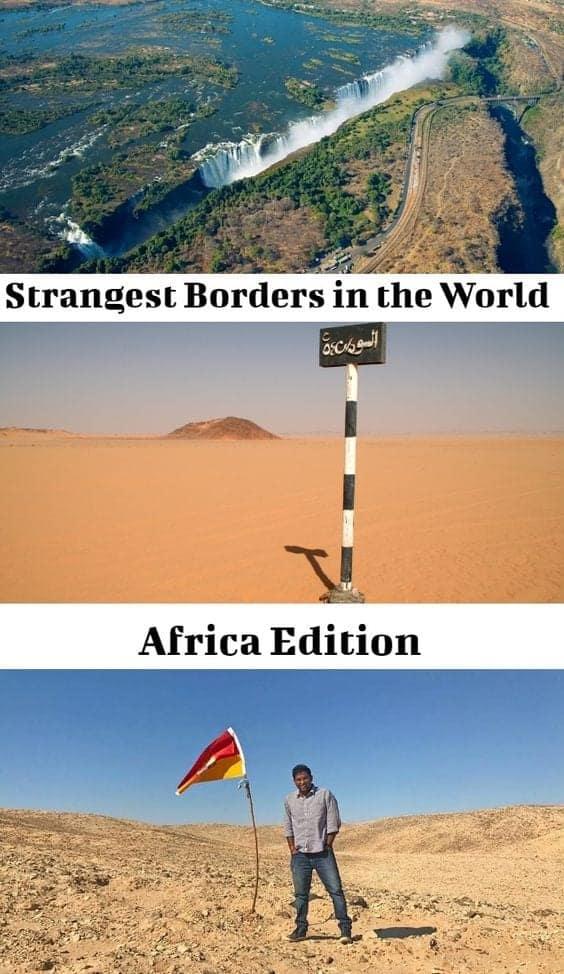 strangest borders in africa