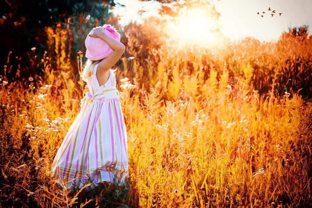 kid in the field