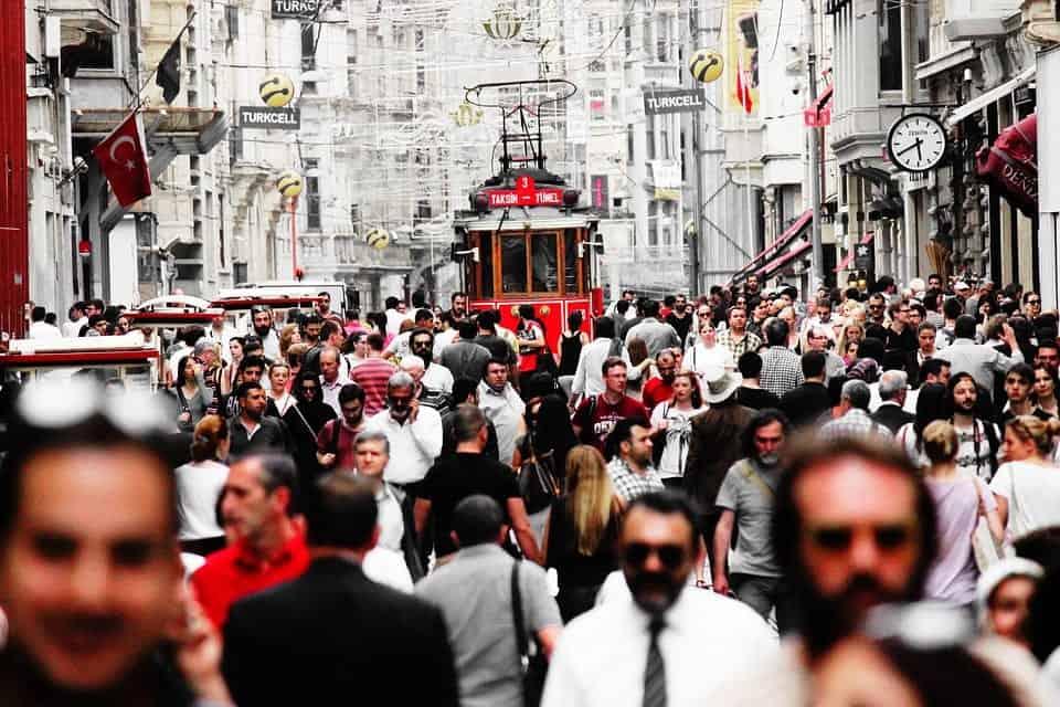 Istanbul crowded street
