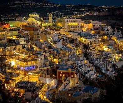 night Santorini