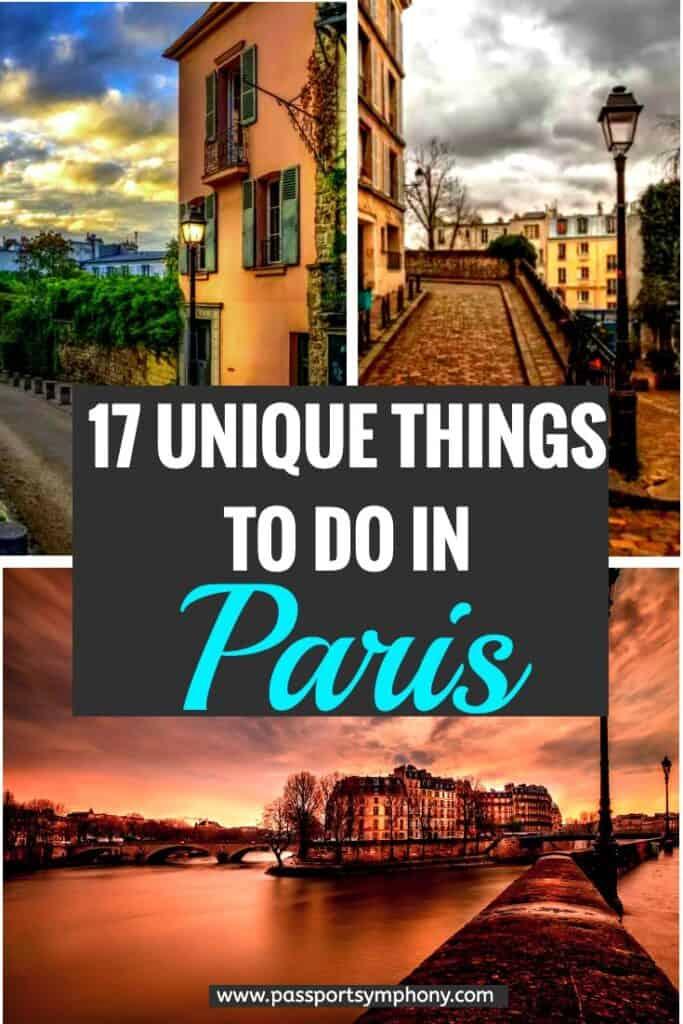unique things to do in paris