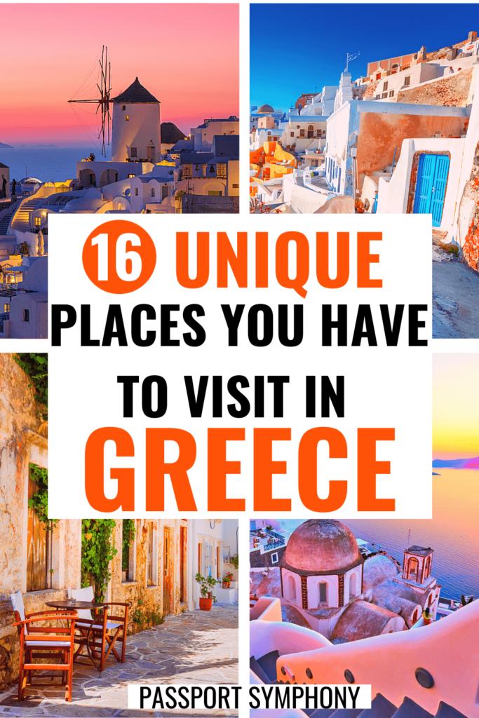 unique places in greece