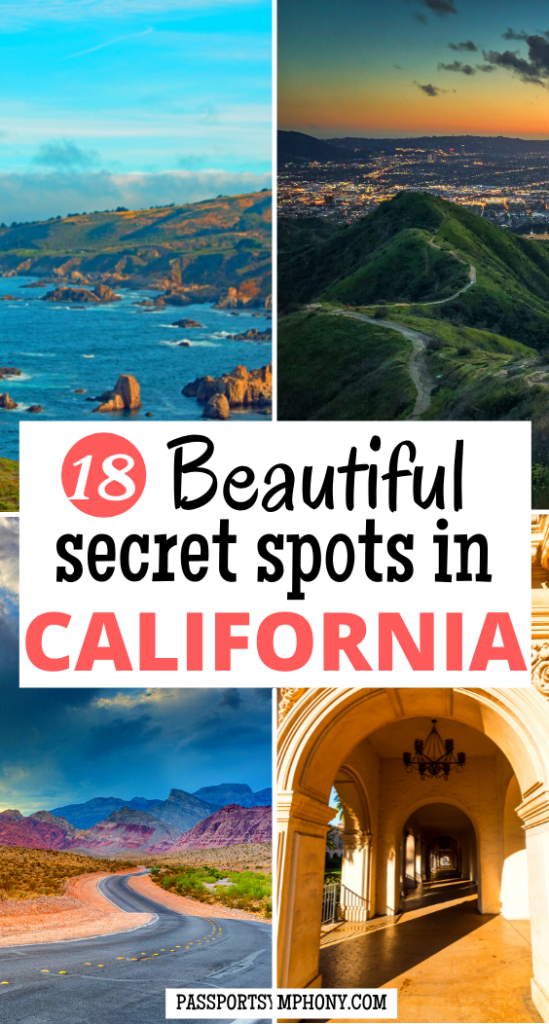 18 Beautiful secret spots in CALIFORNIA