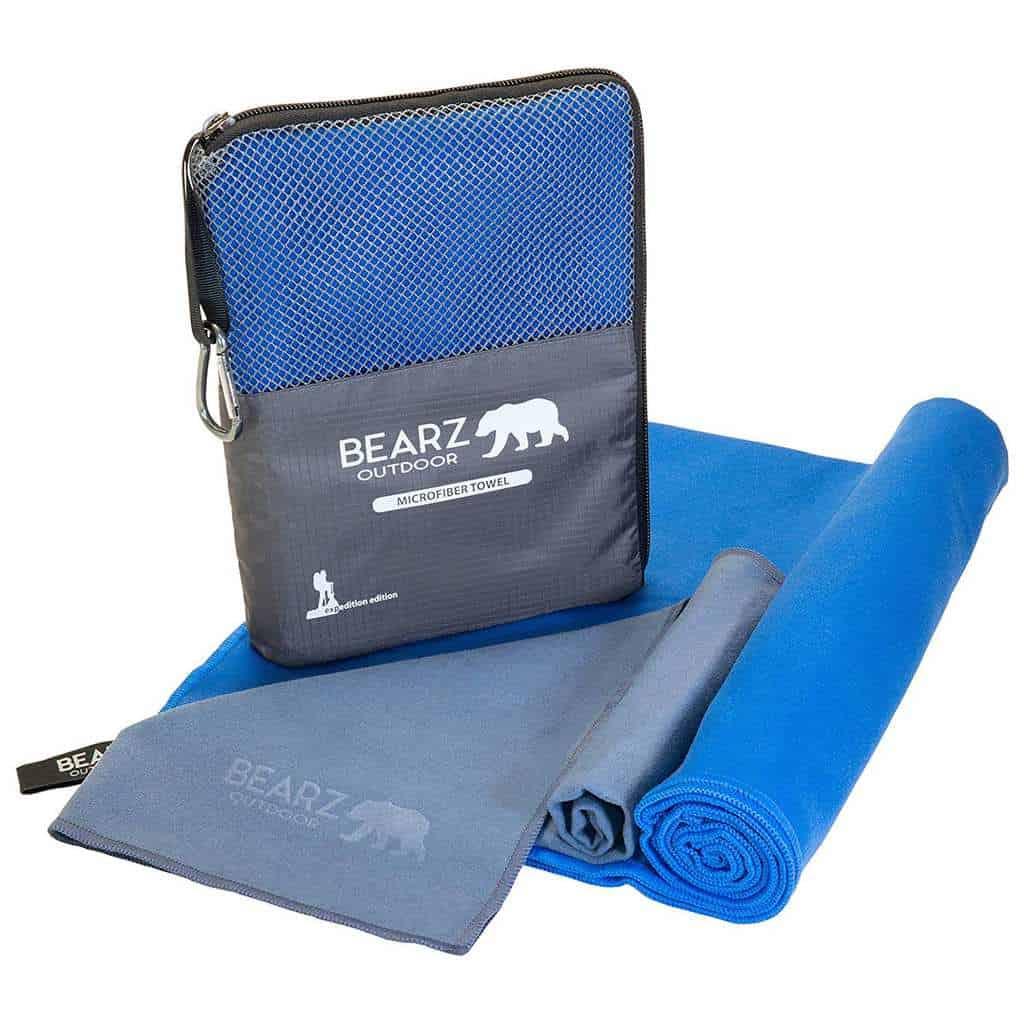 BEARZ Outdoor Quick Dry Microfiber Towel
