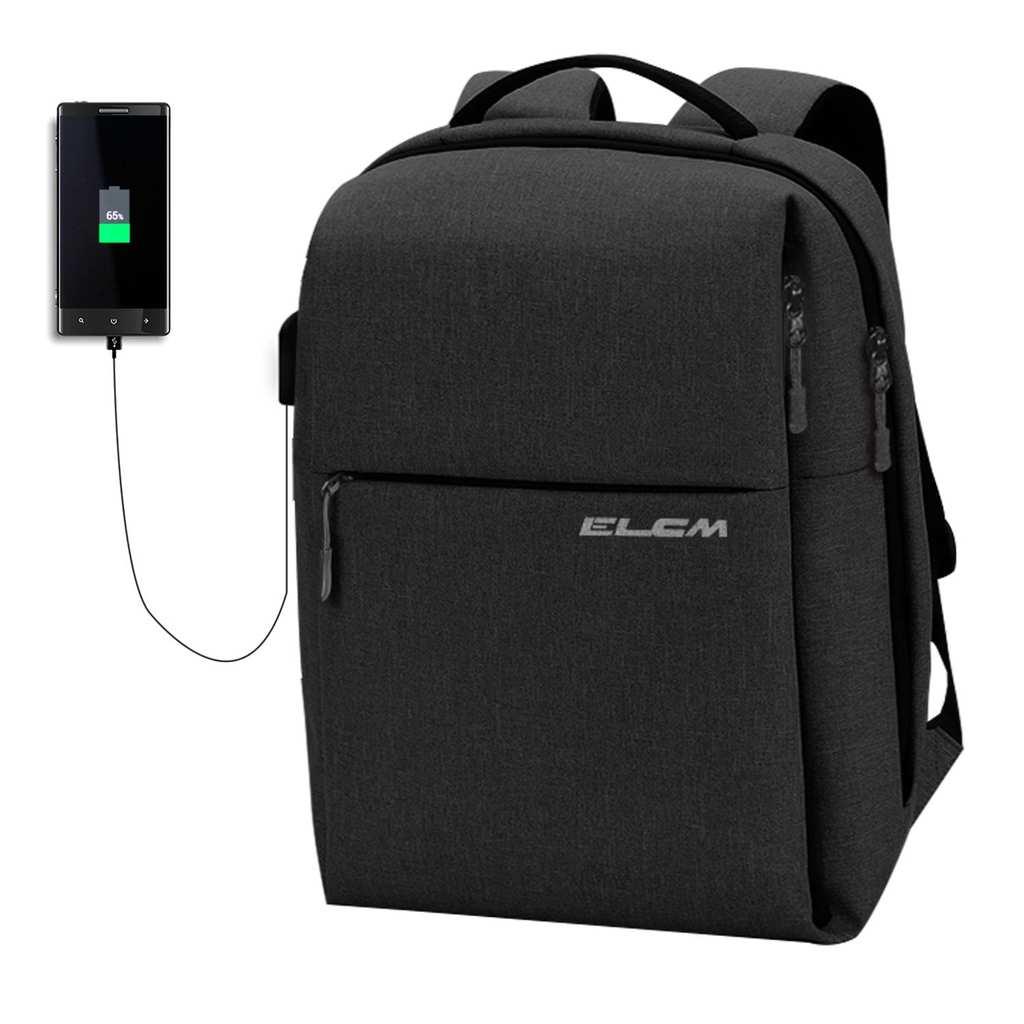 """ELCMLaptopBackpack,【FitsUnder.""""Laptop】TravelComputerBag"""