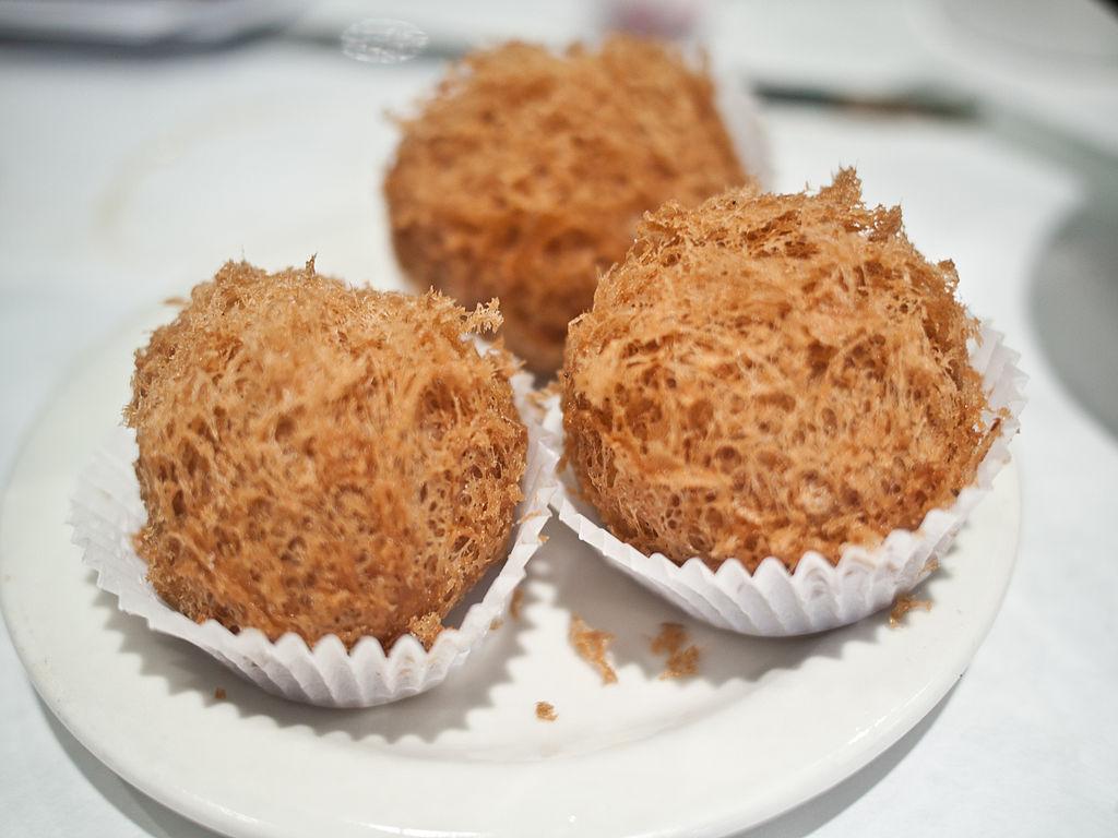 fried taro balls
