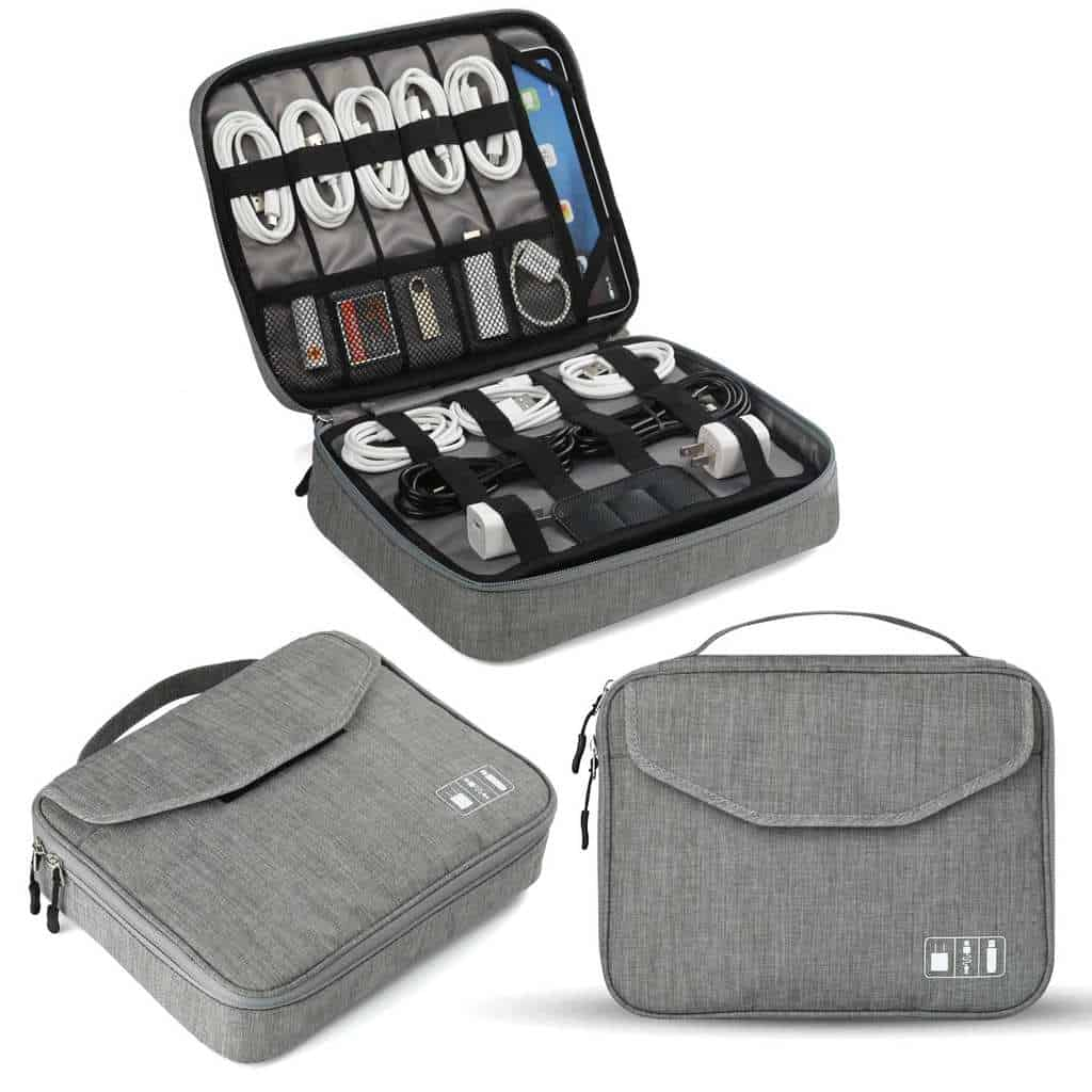 Jelly Comb Electronic Accessories Double Layer Travel Cable Organizer