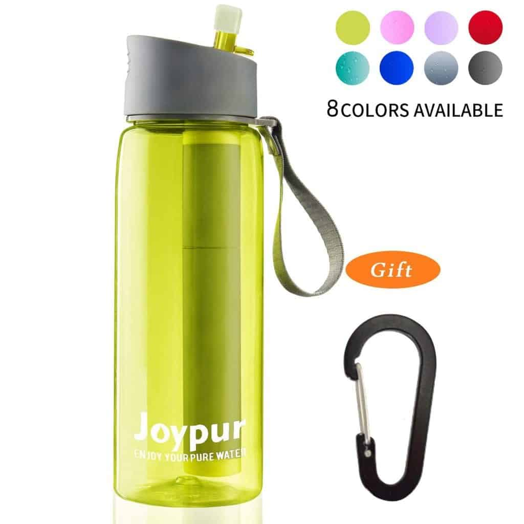 Joypur portable filtered water bottle