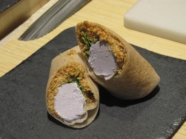 peanut ice cream roll
