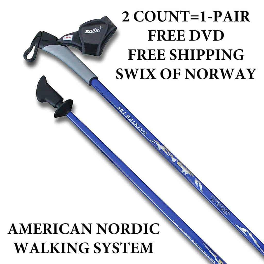 SWIX Nordic Walking Poles of Norway. Life Time Warranty