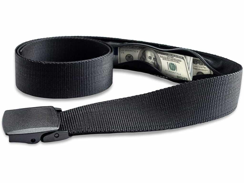 Travel Security Belt with Hidden Money Pocket