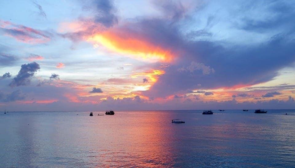 sunset beach thailand