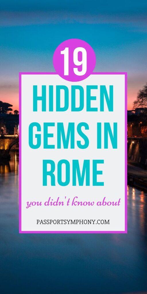 hidden gems in rome