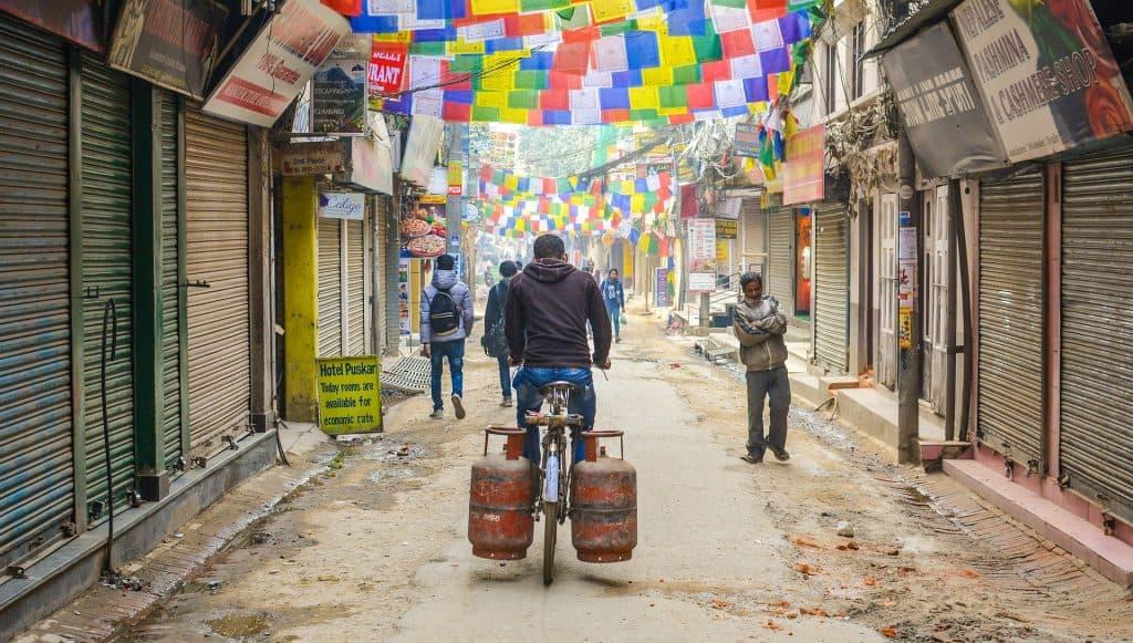 nepal bicycle street