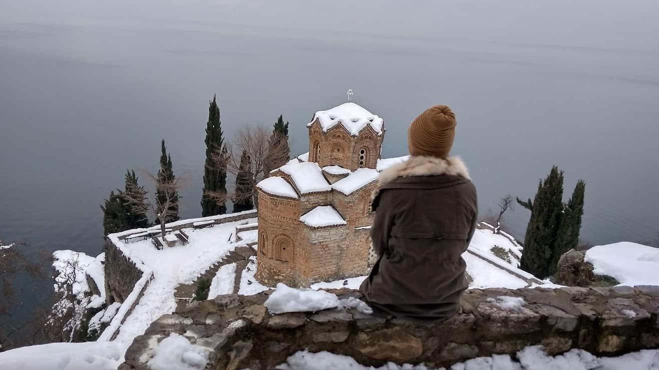 kaneo monastery snow