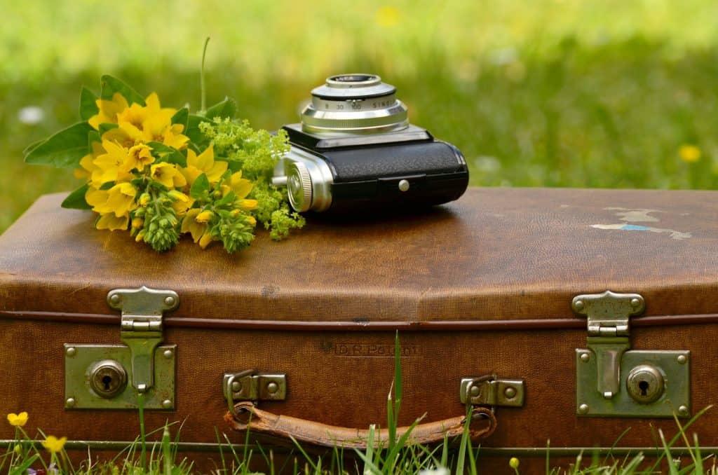 suitcase camera