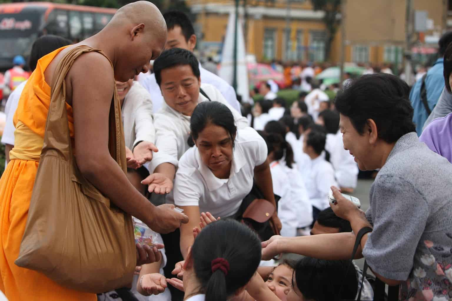 buddhists and monk