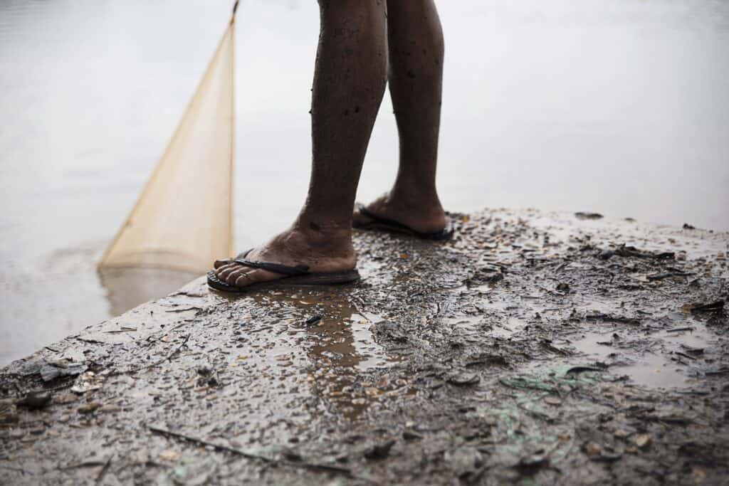 fishing mud water