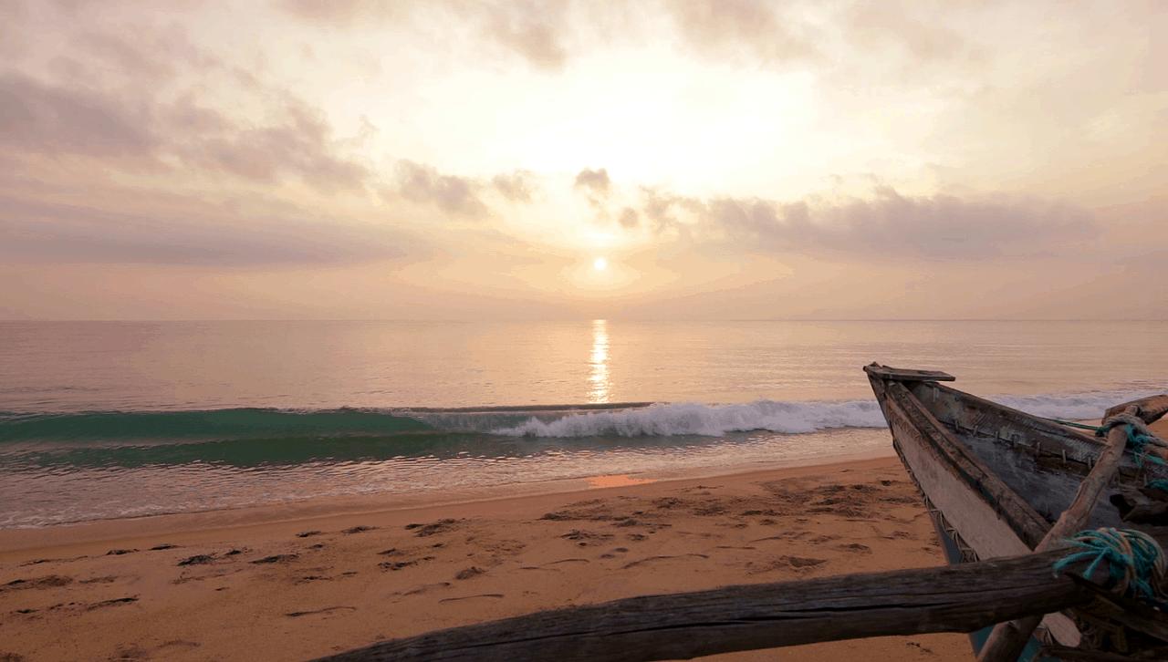 beach sunset sri lanka