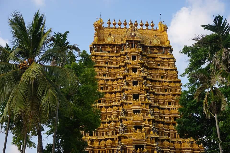 golden hindu temple sri lanka