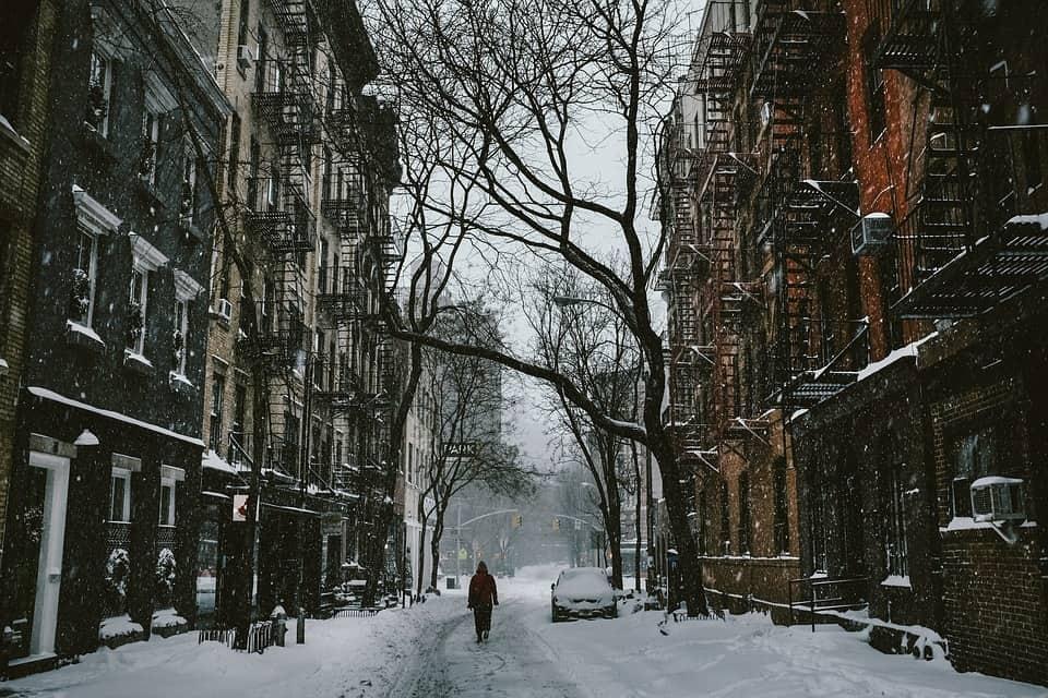 walking snow