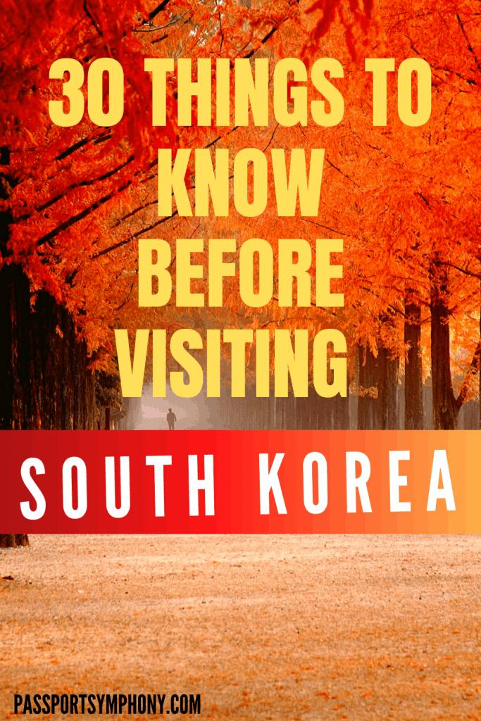 visiting south korea