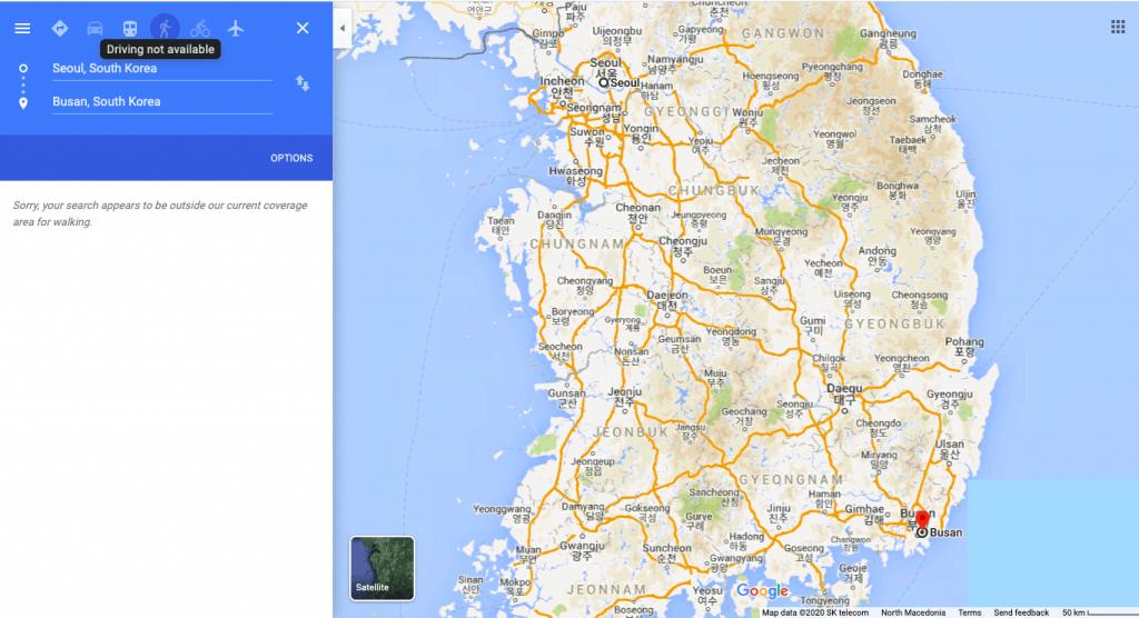 google maps korea