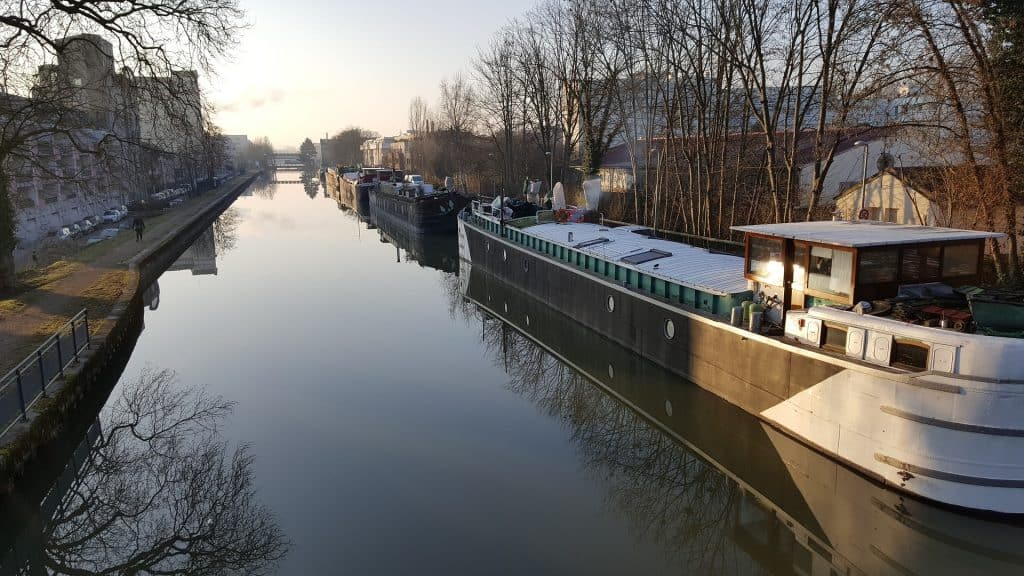 canal boating in france