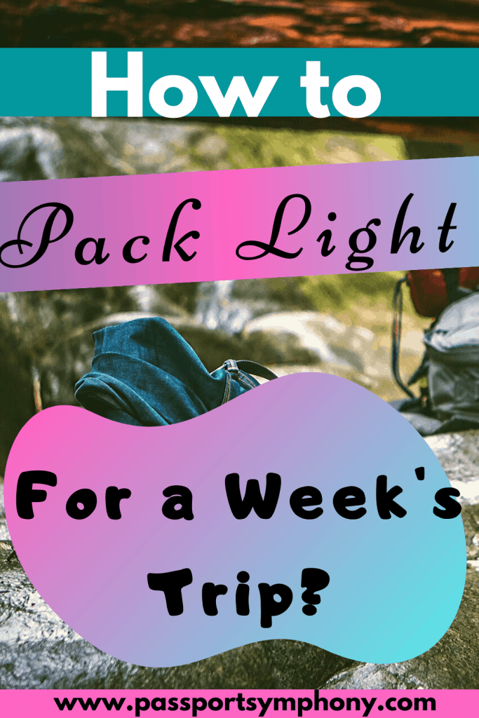 minimalist packing list for a week