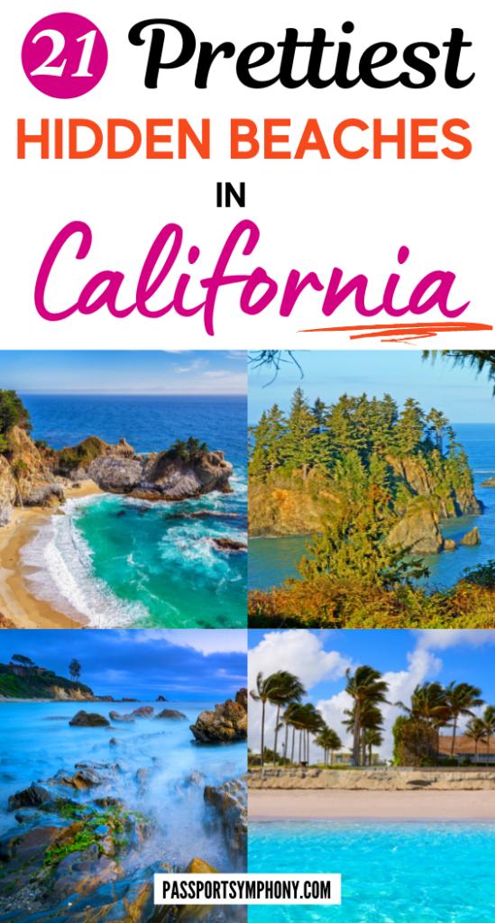 21 Prettiest HIDDEN BEACHES IN CALIFORNIA