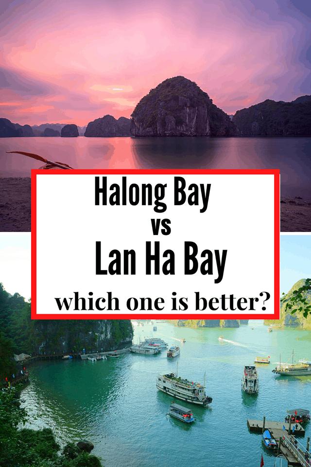 ha long bay vs lan ha bay