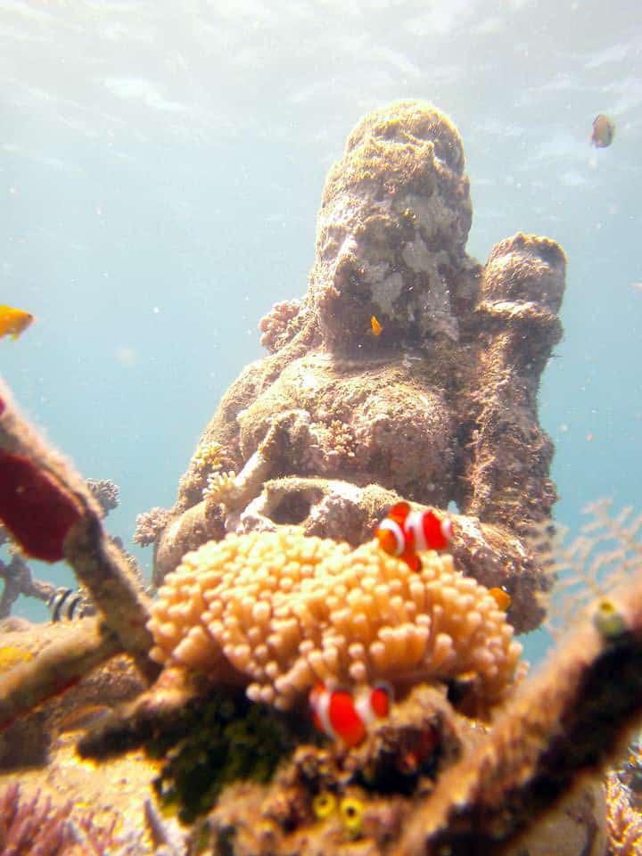 Underwater Temple Garden at Pemuteran