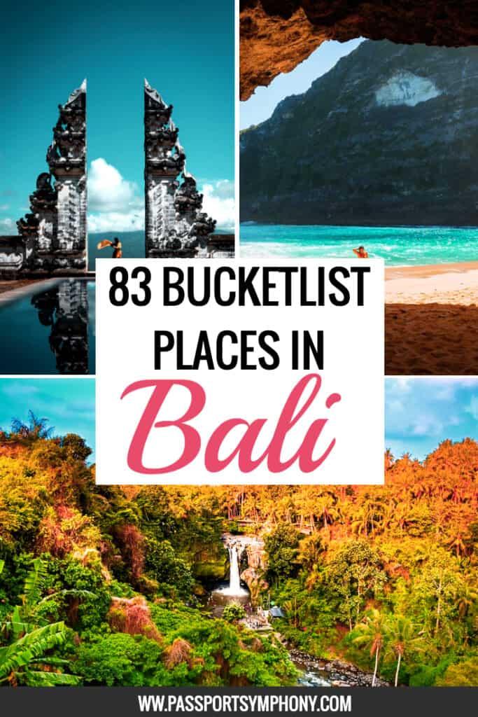 bali bucket list