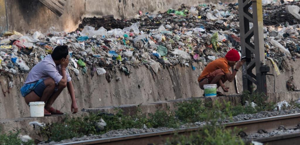 India defecation public