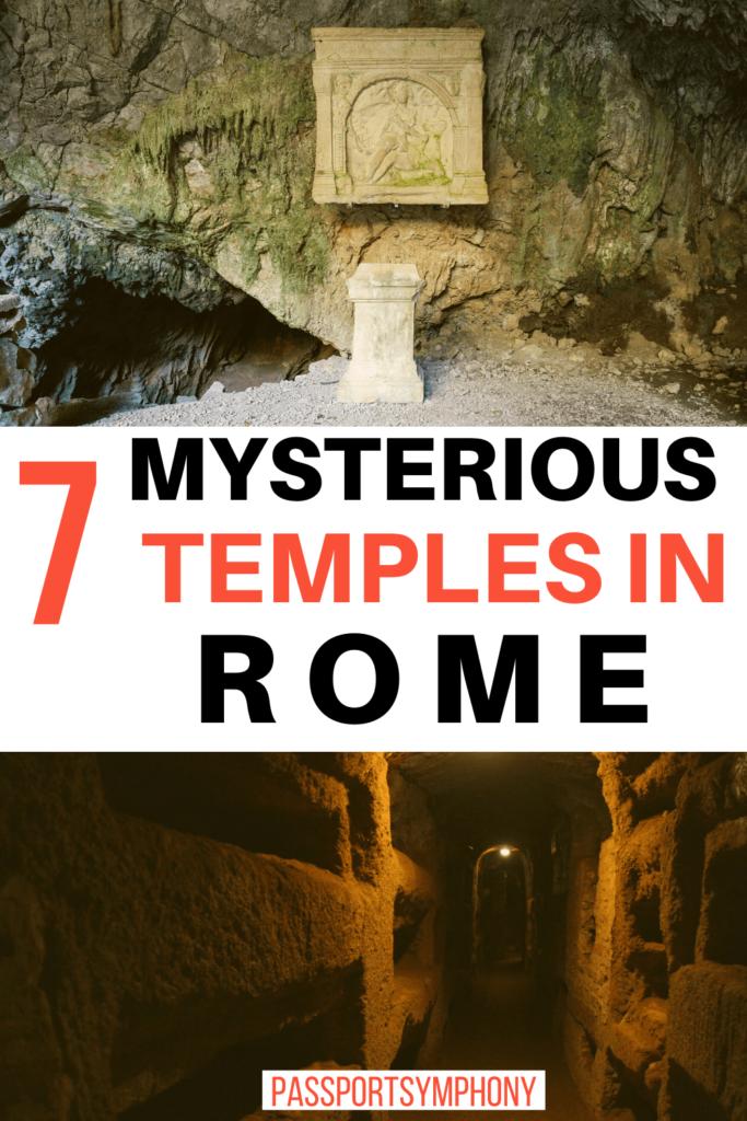 mysterious rome mithraeum temples