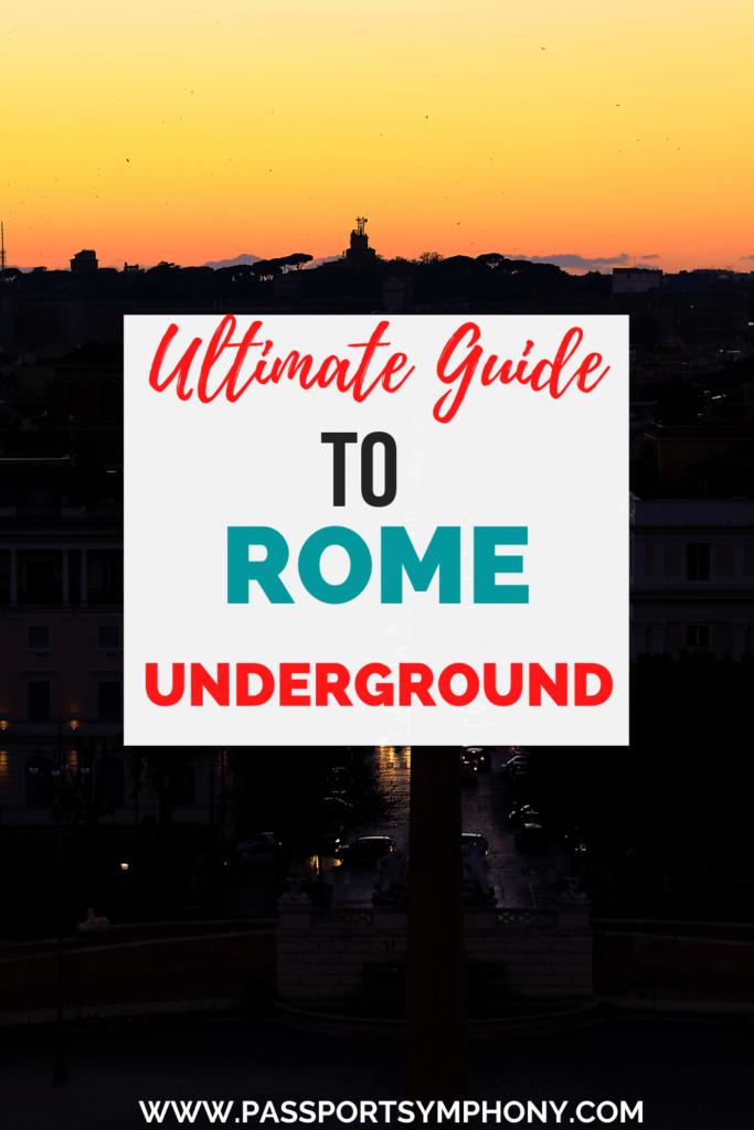 rome mithraeum temples underground