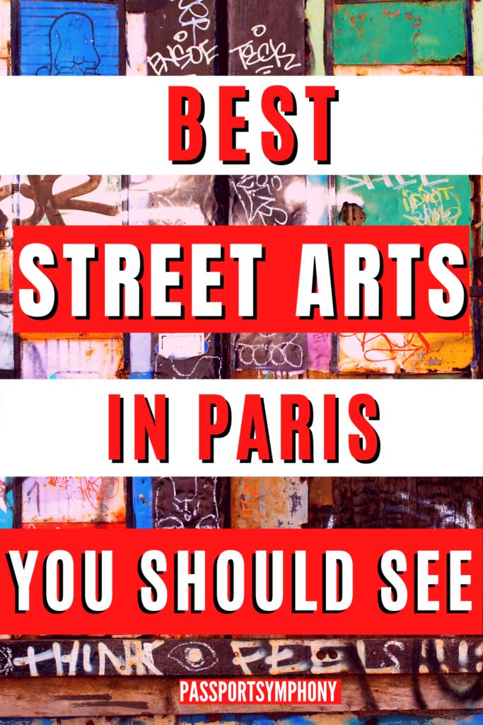 BEST STREET ARTS IN PARIS