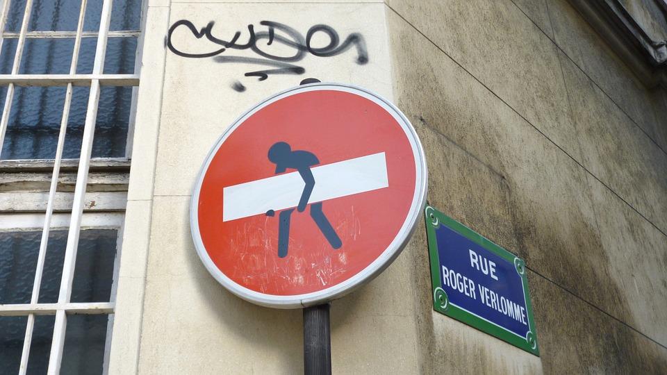 funny sign street paris