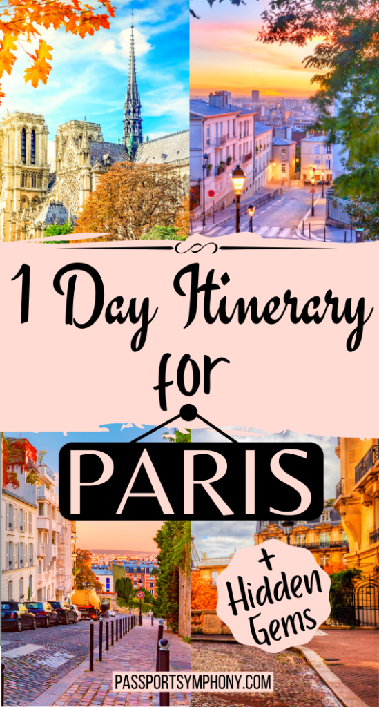 1 day itinerary for PARIS (1)