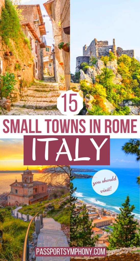 15 SMALL TOWNS IN rome ITALY
