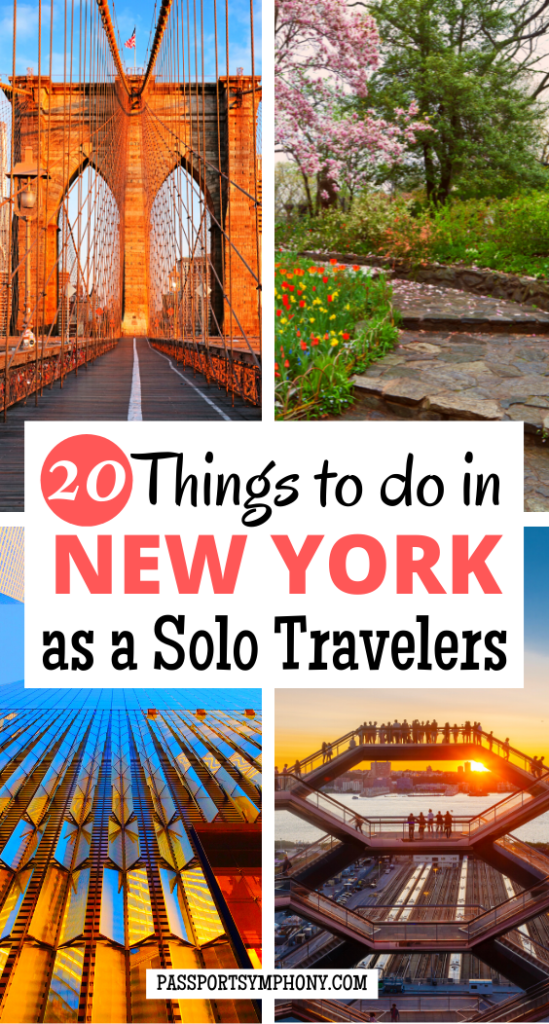 20 Things to do in NEW YORK as a Solo Travelers